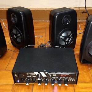 Projeto de som ambiente com amplificador profissional